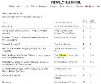 WSJ Bestsellers List